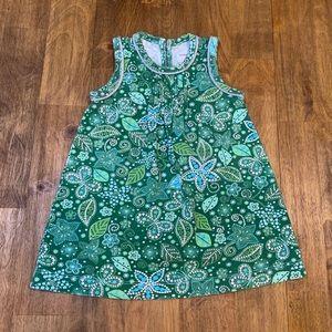 Baby Gap 6/12M Green Floral Paisley Dress